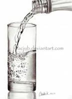 Glass of water by acjub