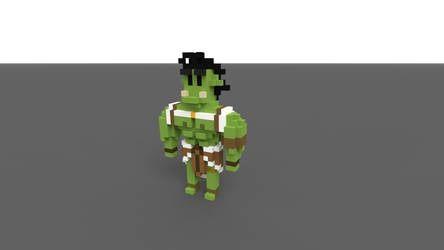 Borky From Takahatas Dnd Stream in pixel form by legofreak88884444