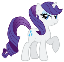 Rarity With A Ponytail by JennieOo