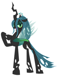 Queen Chrysalis With A Ponytail by JennieOo