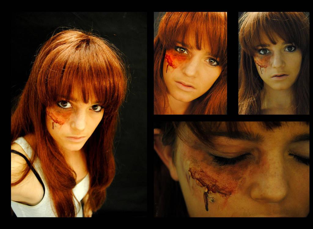 Damaged Eye Gore Makeup By Talesofnightwing On Deviantart - Gore-makeup