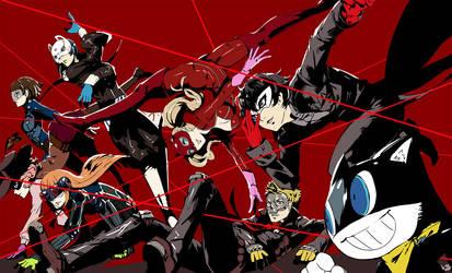 Persona 5 Group by JOAOBATMAN22