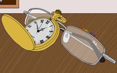 Inktober 14 Clock by AlphaWolfAl