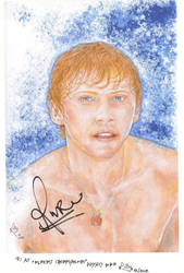 Rupert Grint signed my art by lillywmw