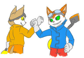 Pelon and Blinx by Gamer1858