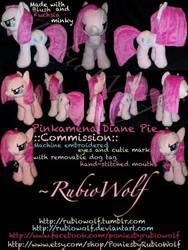 MLP ::Commission:: Pinkamena Diane Pie w/ dog tag by RubioWolf