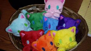 Rainbowfied breadhead kittehs :D by RubioWolf