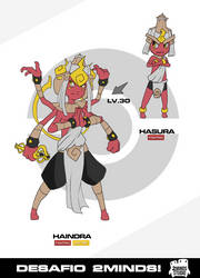 Hasura and Haindra - 2Minds Challenge 'Fakemon' by AlanPrince