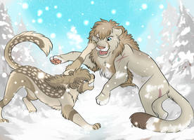 Snow Wrestle by CCDooMo