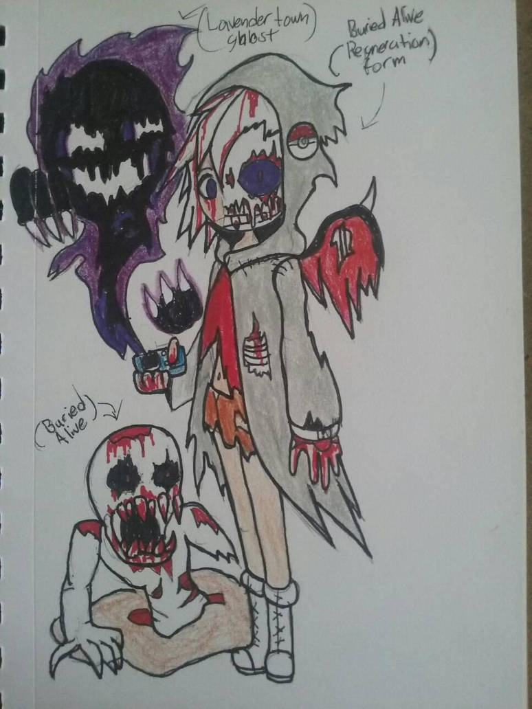 The Lavender Town Ghost And Buried Alive Monster By