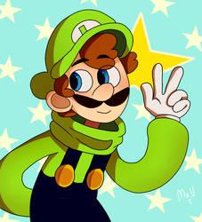 Luigi Star by mariogamesandenemies