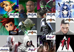 Soul Calibur Guest Characters by DragonSkullable