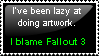 Art Fallout stamp by Canookian