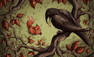 The Fox and the Crow by Evanira