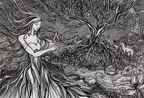 Create Your World- greyscale by Evanira