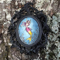 Yellow Tail Fairy Basslet Mermay by Evanira