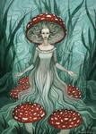 Unseelie Mushroom Fae by Evanira