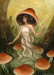 Seelie Mushroom Fae by Evanira