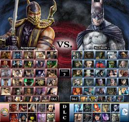 My Mortal Kombat vs. DC Universe Roster by genius-spirit