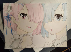 Rem and Ram by helene-happy