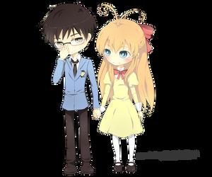 Sakura_and_KyoyaBySquaffle by Hikari-Rose-Moon