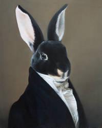 Portrait of a rabbit by Buridanscat