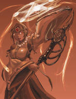 Sorcerer-Exorcist by blaqueandstuff