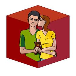 Red Cube by Fantast-kun