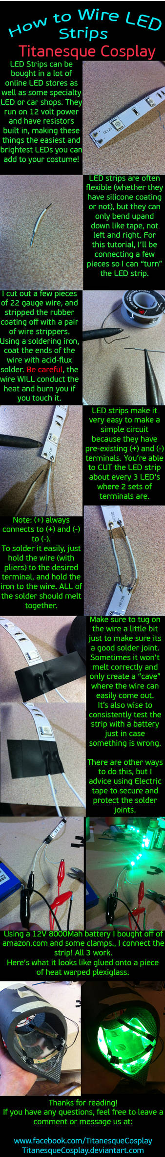 How to wire LED Strips by TitanesqueCosplay