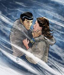 Spock And Zarabeth by Marcelo-Baez