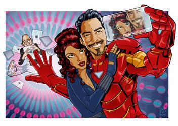Iron man VS Steve Jobs by Marcelo-Baez