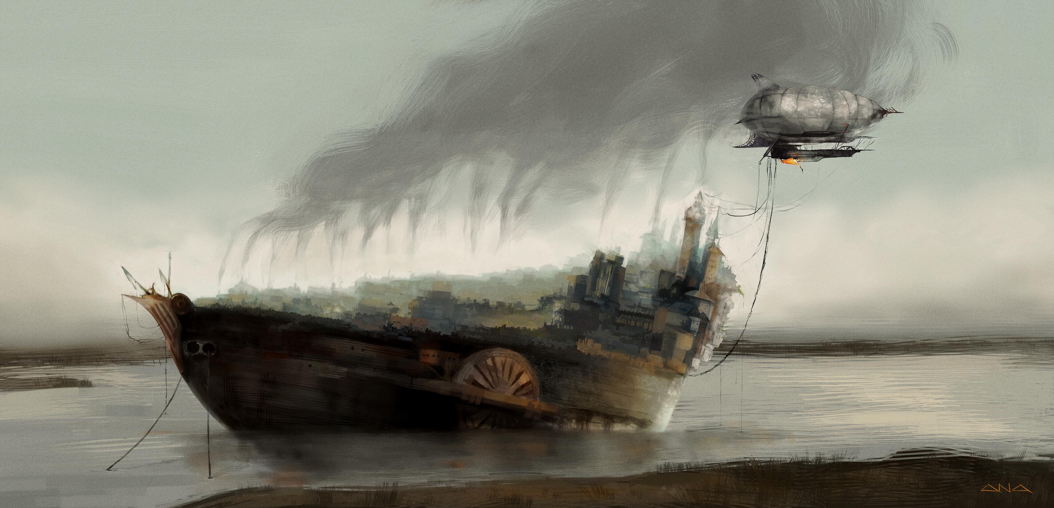 The Ironclad Island by Liquidsilk