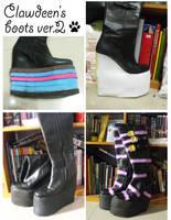 WIP: Clawdeen's boots ver.2 by nekomiKasai