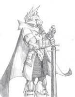 Dragonborn Paladin by BanditFrosty