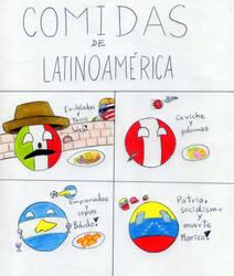 Comidas de Latinoamerica Countryballs by HugoDeSousa