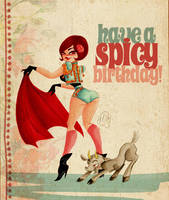 Matador Birthday Card by TracyLeeQuinn