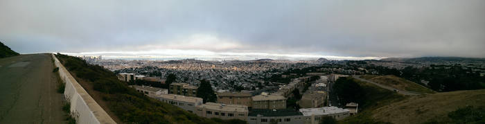 Pano of SF south to Daly City by CaseyDN