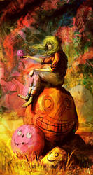 Meditate among smiling stones by Nemo-Li