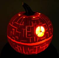 Death Star Pumpkin by Bonedaddybruce