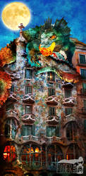 Casa Batllo's dragon by ElderDraw
