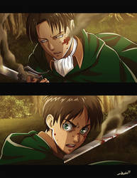 Screenshot Eren and Rivaille by idaiku17