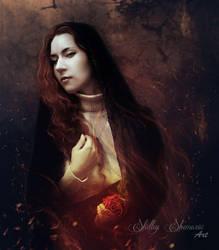 Burning Rose by SilentPlea