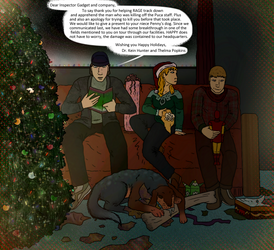 Iron and Steel-verse Gadget Gang Christmas by systemcat