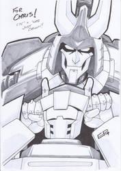AA14 Sketch - Cyclonus and Tailgate by Kingoji