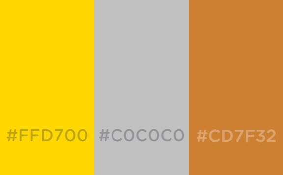 Gold Silver And Bronze Color Schemes By Thewolfbunny On Deviantart