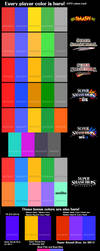 Super Smash Bros. - Every Player Color is Here! by TheWolfBunny