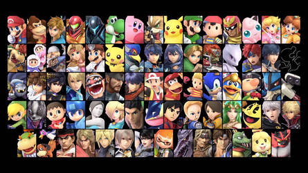 Super Smash Bros. Ultimate: Base Roster Wallpaper by TheWolfBunny
