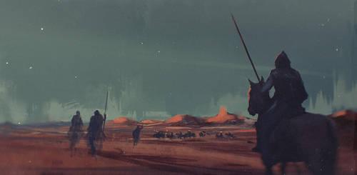 Desert knights by Nik-Moskvin