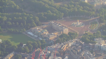 Buckingham Palace from above by Artfulancell