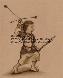 Darkling Female Hunter in Sepia by BaylaVin